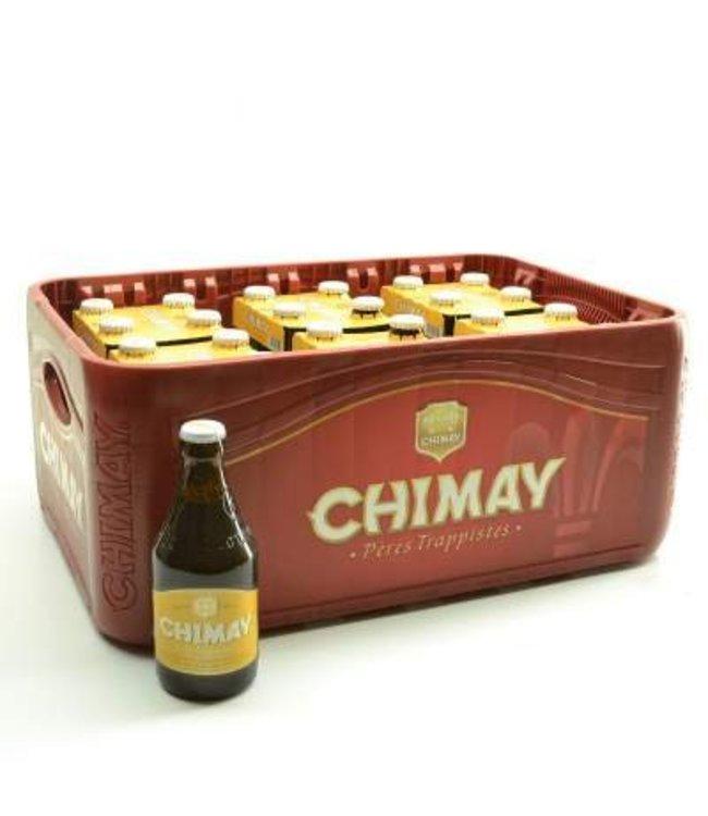 24 FLESSEN    l-------l Chimay Wit Bierkorting (-10%)