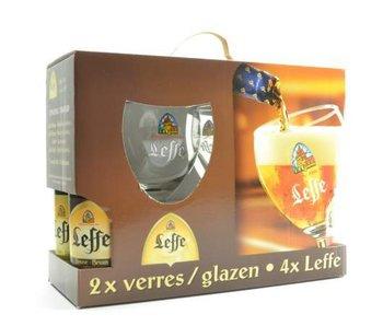 Leffe Biergeschenk (4x33cl + 2xgl)