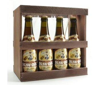 Pauwel Kwak Biergeschenk (4x33cl + Dubbel glas)