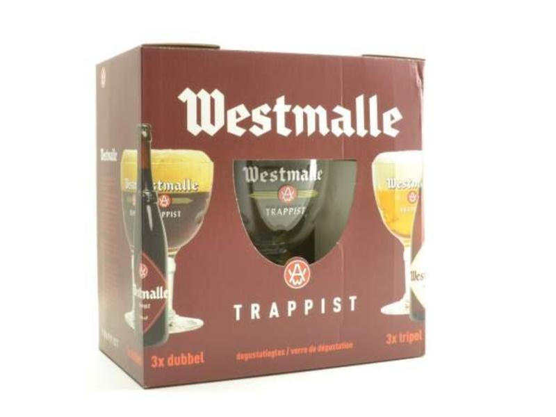 MG Westmalle Bier Geschenk (6x33cl + gl)