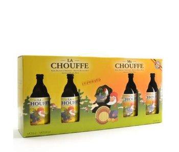 Coffret cadeau Chouffe (4x33cl + gl)