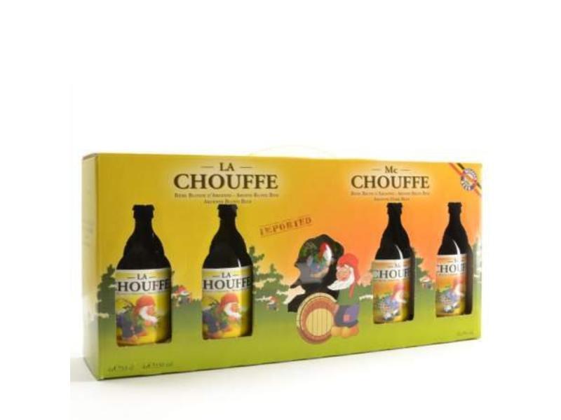 MG / STUK Chouffe Bier Geschenk (4x33cl + gl)