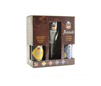 Coffret cadeau Arend (4x33cl + gl)