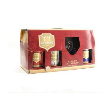 Coffret cadeau Chimay (6x33cl + gl)