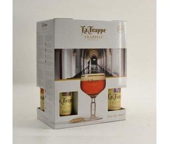 La Trappe Bier Geschenk (4x33cl + gl) (NL)