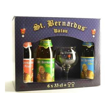 Coffret cadeau St Bernardus (6x33cl + 2xgl (15cl)