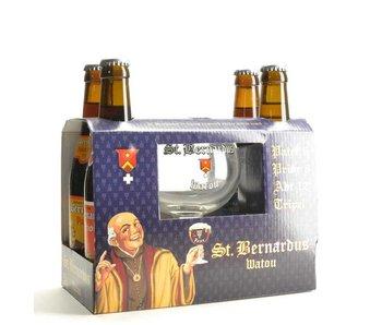 Coffret cadeau St Bernardus (4x33cl + gl)