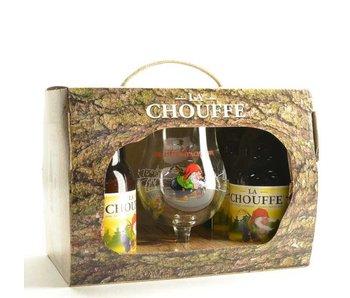 La Chouffe Bier Geschenk (4x33cl + gl)