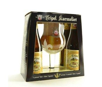 Coffret cadeau Triple Karmeliet (4x33cl + gl)