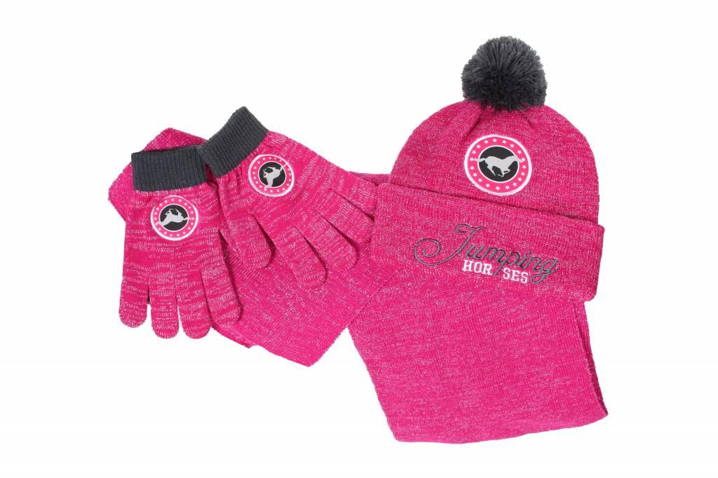 Red Horse Winterset Sjaal, Muts, Handschoenen