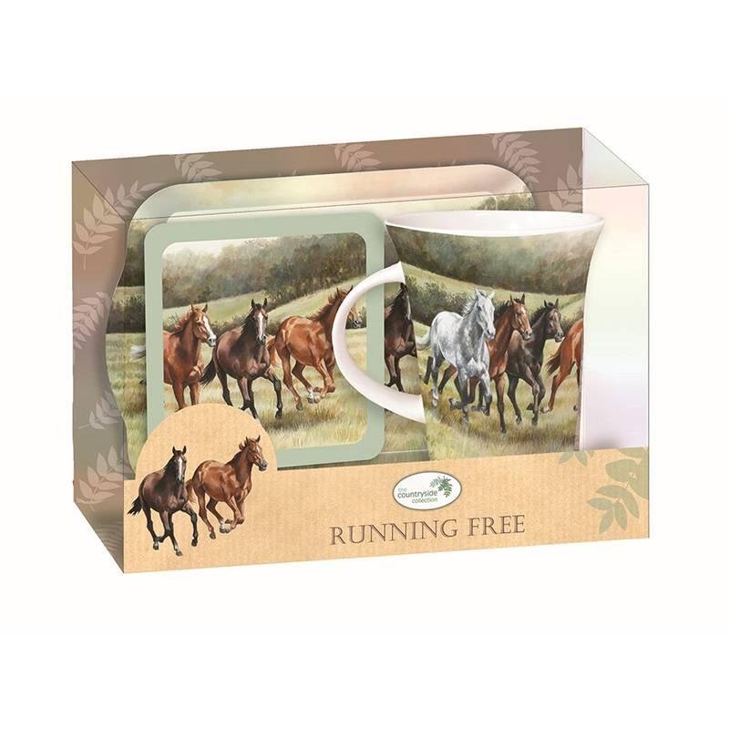 Plenty Gifts Theeset paarden rennend