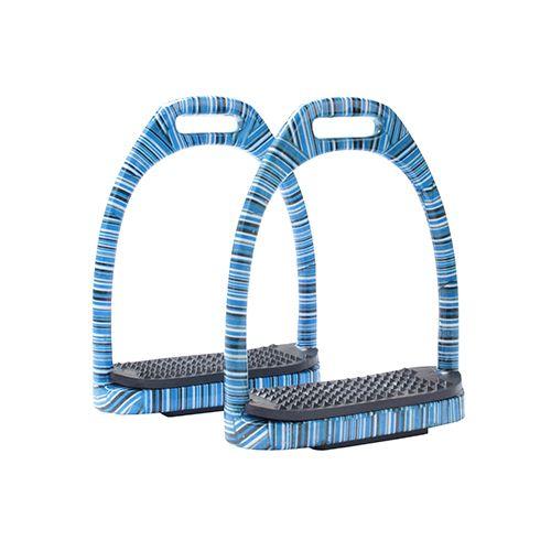 Horka Horka stijgbeugel aluminium blauwe strepen 10 cm