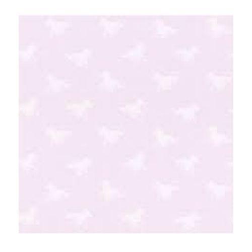 Paardenvrienden Behang roze met witte stippen