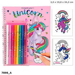 Ylvi Ylvi & the minimoomis kleurboek create your unicorn met magic vilstiften