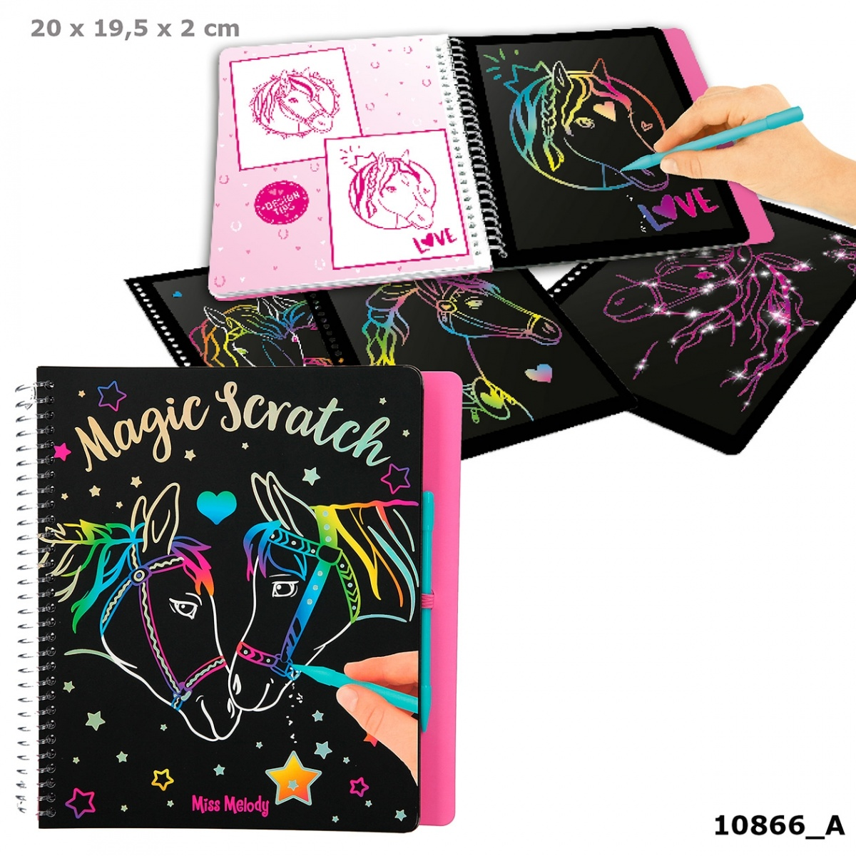 Miss Melody Miss Melody magic scratch boek