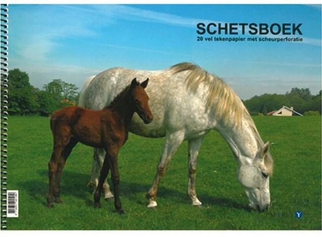 SCHETSBOEK PAARDEN - A4 - 120GR - 20VEL