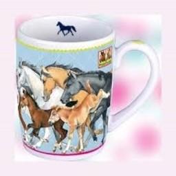 Paardenvrienden Porseleinen mok
