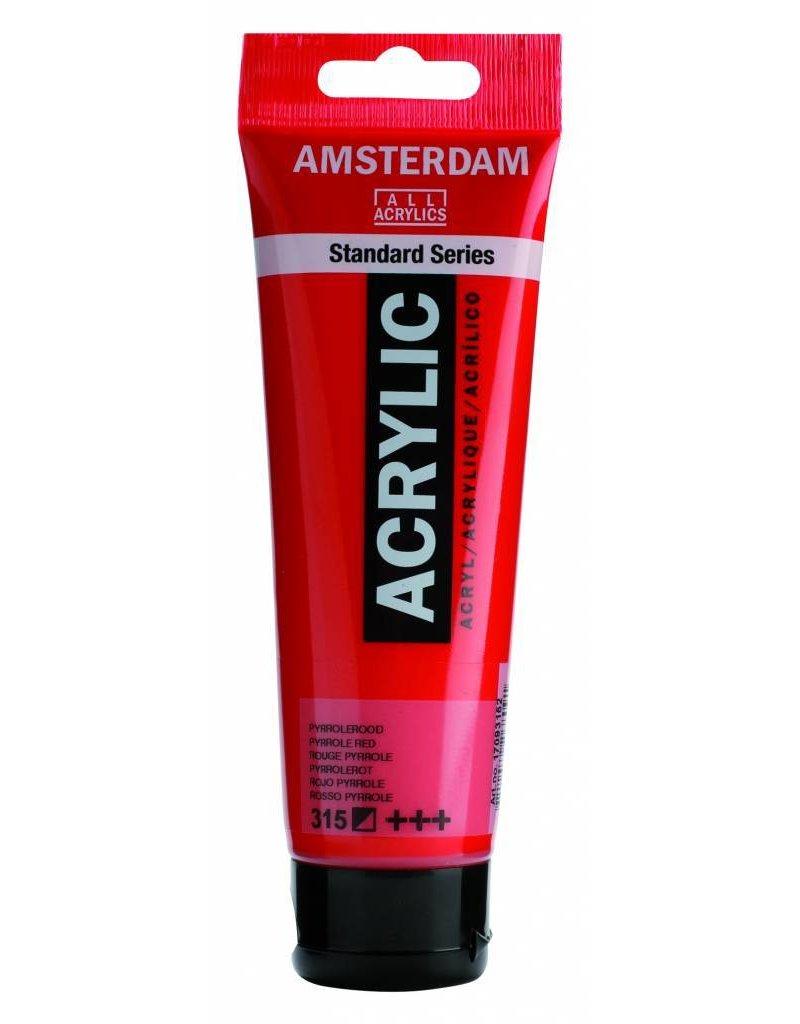 Talens Amsterdam acrylverf Pyrrolerood
