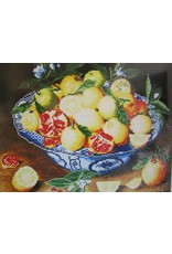 Diamond Dotz Diamond Painting pakket Still life with lemons, oranges & pomegranate