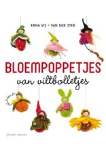 Forte Boek Bloempoppetjes van viltbolletjes