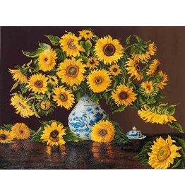 Diamond Dotz Diamond Painting pakket Sunflowers in China Vase