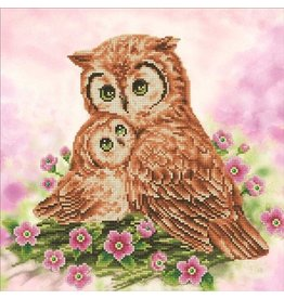 Diamond Dotz Diamond Painting pakket Mother & Baby Owl