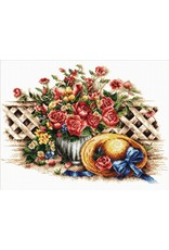 Needleart World Borduurpakket Roses & Sunhat