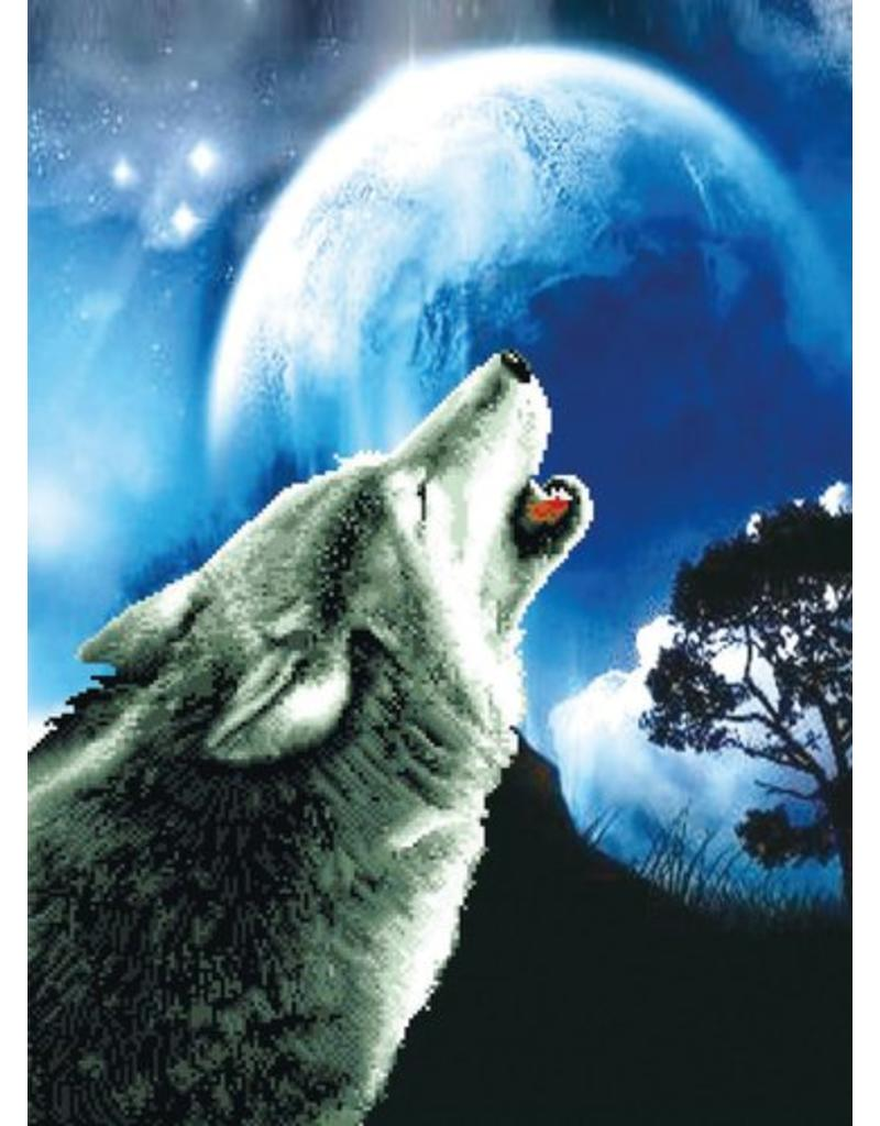 Needleart World Borduurpakket Howling Wolf