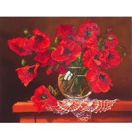 Diamond Dotz Diamond Painting pakket Red Poppies