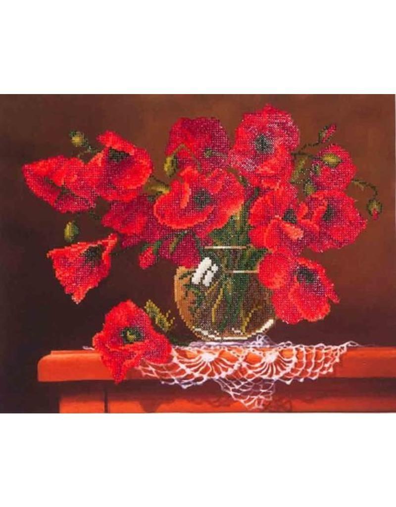Diamond Dotz Diamond Painting pakket Red Poppies
