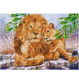Diamond Dotz Diamond Painting pakket Lion Family