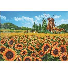 Diamond Dotz Diamond Painting pakket Sunflower Windmill