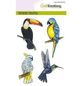 CraftEmotions Clear stempel Tropical birds