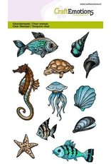 CraftEmotions Clear stempel Sea animals