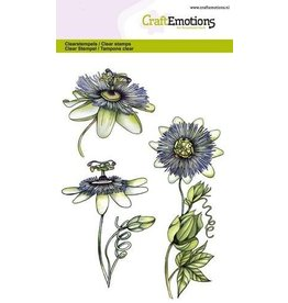 CraftEmotions Clear stempel Passion flower