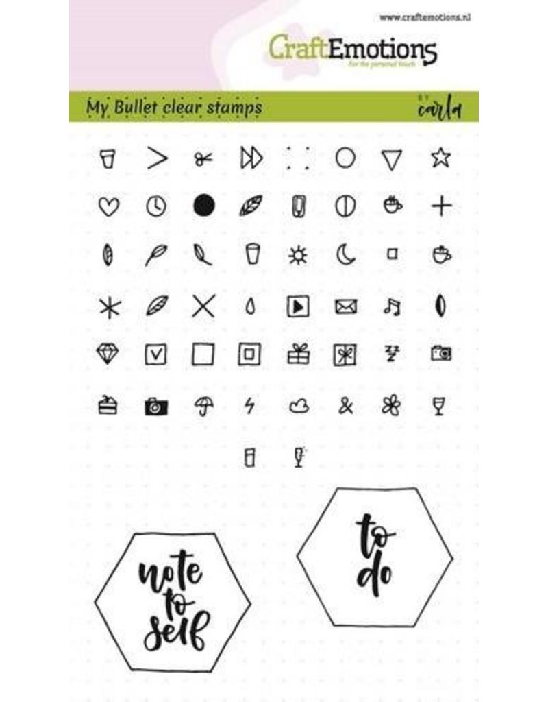 CraftEmotions Clear stempel Bullet journal - signs 5 mm