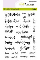 CraftEmotions Clear stempel Bullet journal - tekst diversen 5-10 mm