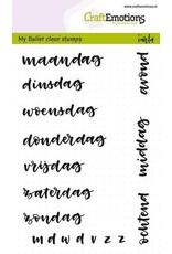 CraftEmotions Clear stempel Bullet journal - dagen 5-10 mm