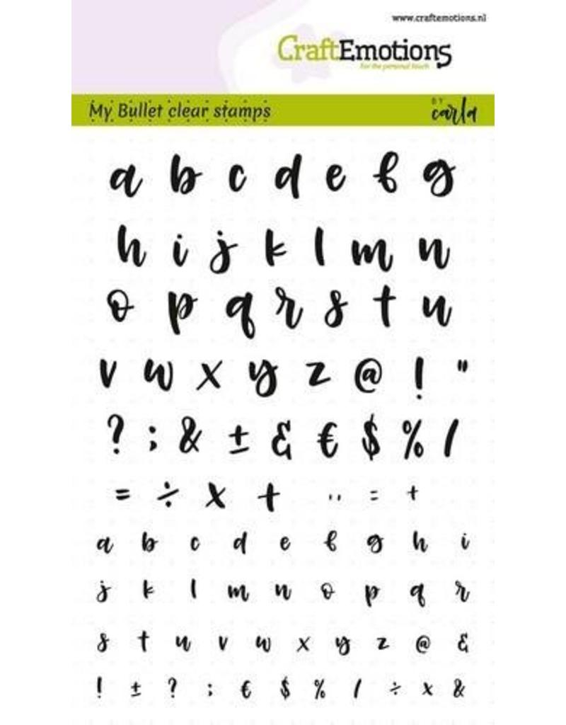 CraftEmotions Clear stempel Bullet journal-alphabet 5-10 mm