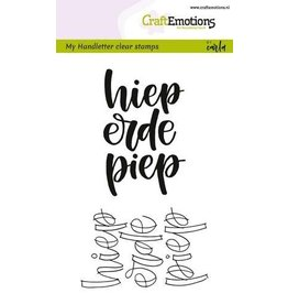 CraftEmotions Clear stempel Handletter-Hieperdepiep