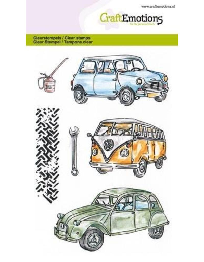 CraftEmotions Clear stempel Classic Cars