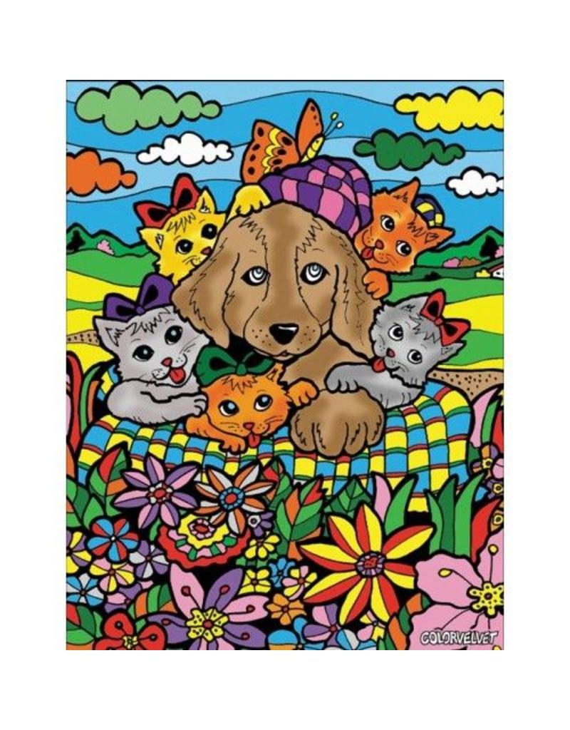 Painting Velvet Colorvelvet  kleurplaat Cats & Dog