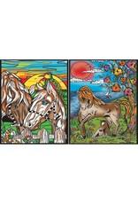 Painting Velvet Colorvelvet  kleurplaat opbergmap Horses