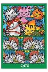 Painting Velvet Colorvelvet  kleurplaat doos Cats