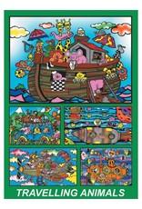Painting Velvet Colorvelvet  kleurplaat doos Ark van Noach