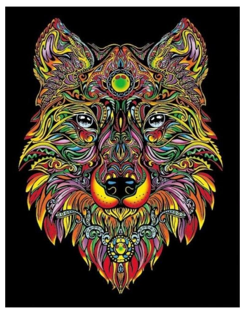 Painting Velvet Colorvelvet  kleurplaat Wolf