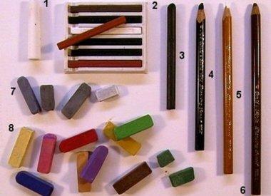 Diverse teken materialen