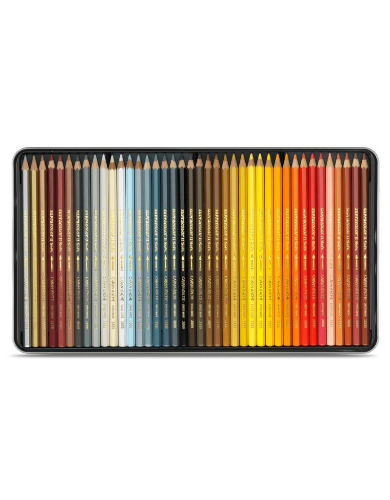 Caran d'Ache Aquarel kunstenaar kleurpotloden Supracolor Soft  - set 80 stuks