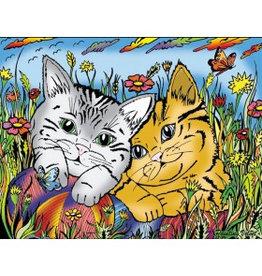 Painting Velvet Colorvelvet kleurplaat Cats