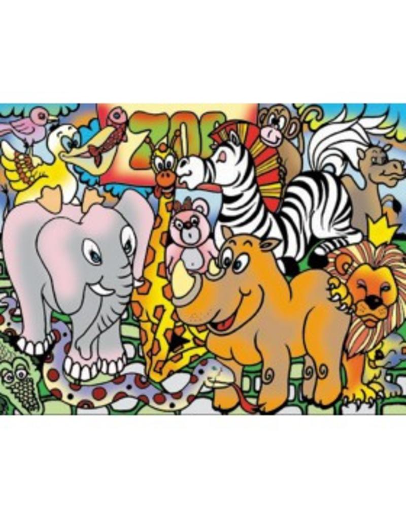 Painting Velvet Colorvelvet kleurplaat Dierentuin